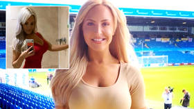 'This is gonna be a long six weeks': Pin-up football presenter claims she was sent penis photo within hours of UK's new lockdown