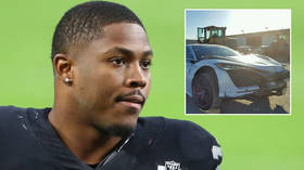 NFL's Josh Jacobs 'suffers injuries' in car smash and is booked for driving under influence hours after post-game karaoke bar trip