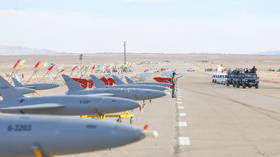 Iranian forces launch large-scale drone combat drill as tensions rise in the Persian Gulf (PHOTOS)