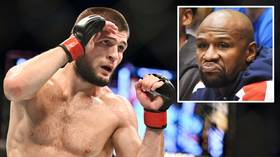 Feast fit for a UFC king: Khabib enjoys mammoth Dubai banquet & giant cake prepared in his honor by Turkish celebrity chef