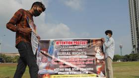 Sri Lanka rejects plea to stop cremating Muslim Covid-19 victims