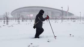 Snow joke: La Liga caught off guard by SHOCK snowfall as Atletico Madrid vs Athletic Bilbao called off