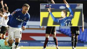 Turkish forward Tosun denies using far-right 'Grey Wolves' gesture after furious fans call out Everton goal celebration (VIDEO)