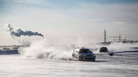 Ten-year-old Russian Boy hospitalized after sleigh tied to back of car hits another vehicle on icy lake in remote Far East (VIDEO)