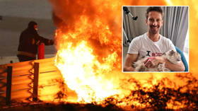 'My hands are back': Formula 1 ace Grosjean continues recovery from near-death blaze – but warns squeamish fans over gory picture