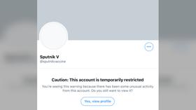 Twitter RESTORES account of Sputnik-V, Russia's coronavirus vaccine, restricted over suspicious log-in