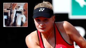 Winging it: Ukrainian tennis star Yastremska is seen dancing on flight to Australian Open despite provisional suspension (VIDEO)
