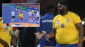 'Don't judge a book by its cover': Larger-than-life 240lbs Congo handball star takes World Championships by storm (VIDEO)