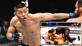 'He's adorable!' Chinese UFC fighter wins plaudits after knocking out rival – then immediately checking on him (VIDEO)