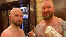 WATCH: Game of Thrones giant Hafthor Bjornsson earns DRAW in boxing debut ahead of Eddie Hall superfight
