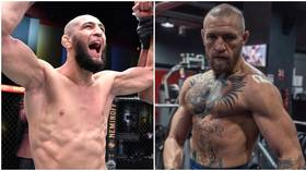 Khamzat Chimaev ANNIHILATES heavy bag in frightening footage – as UFC rival claims he'll 'slap him on sight' over insults (VIDEO)