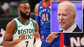 'Keep the same energy': NBA star Jaylen Brown says the fight for social justice continues, despite Trump's White House departure