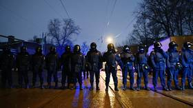 Chechen man arrested while fleeing to Latvian border after video of him fighting Russian riot police went viral over weekend