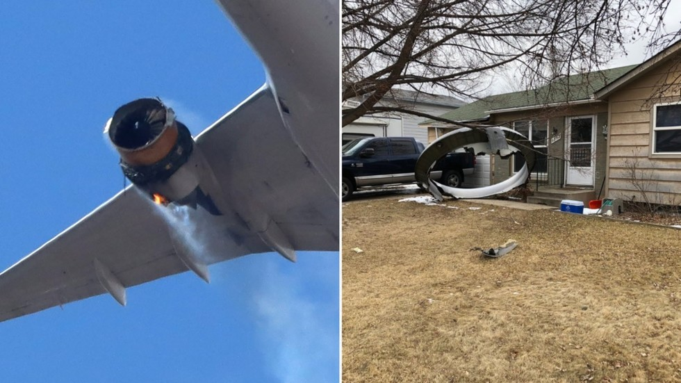 PLANE DEBRIS rain from the sky as United jet makes emergency landing in Denver with engine on FIRE (VIDEOS)
