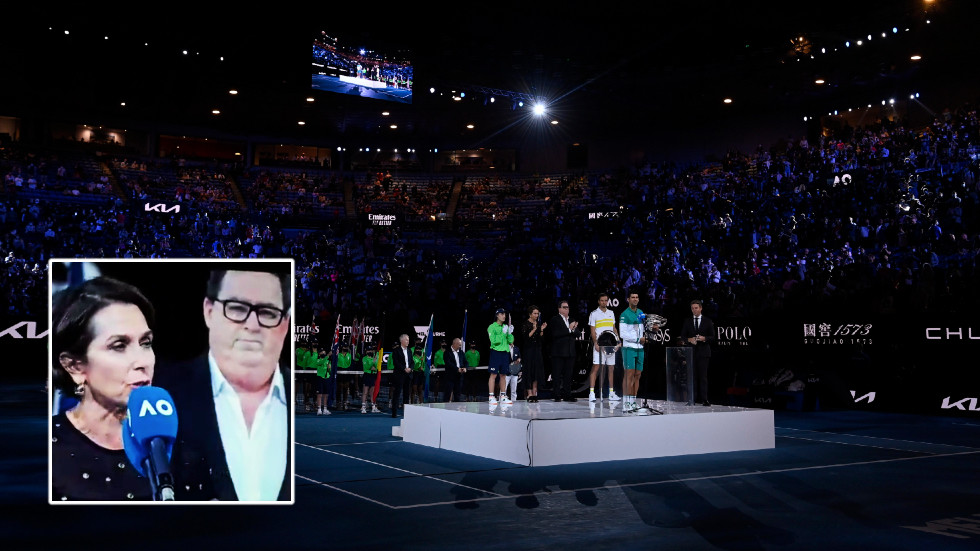 'When you're finished': Australian Open closing ceremony turns awkward after crowds appear to boo mentions of vaccines, government