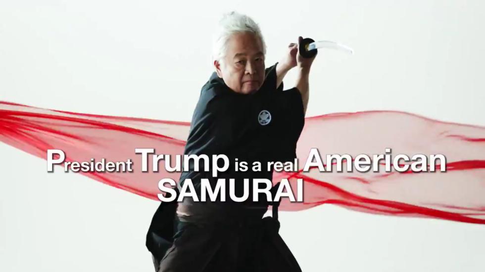 'A real American samurai': Bizarre video featuring Japanese 'futurologist' shown at CPAC hails Trump as communist-fighting hero