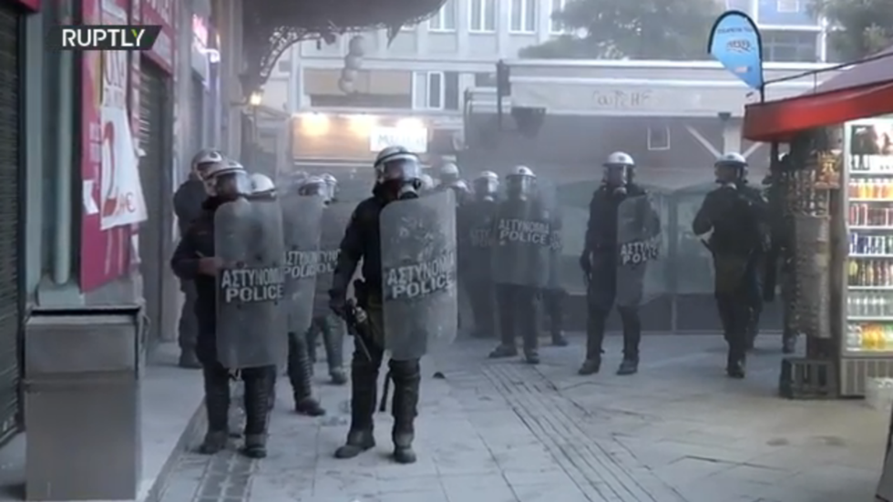 WATCH Greek police fire tear gas into metro station amid protests in support of jailed far-left hitman