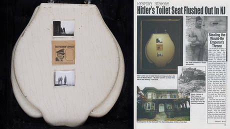 Dictator's 'throne': Hitler's toilet seat, looted from Bavarian retreat, up for grabs with starting bid of $5,000