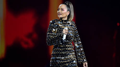 FILE PHOTO: Rita Ora on stage at the Avicii Tribute Concert For Mental Health Awareness at Friends Arena in Stockholm, Sweden December 5, 2019
