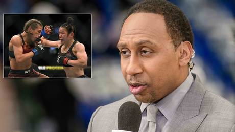 The MMA world reacted after Stephen A. Smith's comments on women's fights. © USA Today Sports / Getty Images via AFP