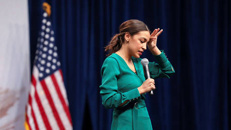 Rep. Alexandria Ocasio-Cortez (November 9, 2019 file photo) is catching heat for claiming her life was in danger during the January 6 Capitol unrest.