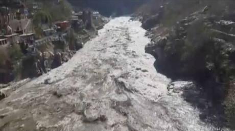 Flood in Chamoli, India, February 7, 2021. © ANI / Reuters