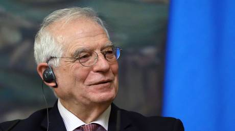 High Representative of the European Union for Foreign Affairs and Security Policy Josep Borrel during a press conference following a meeting with Russian Foreign Minister Sergey Lavrov at the Reception House of the Russian Foreign Ministry.