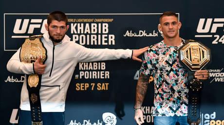 Khabib says Dustin Poirier should be next UFC lightweight champion. © Zuffa LLC via Getty Images