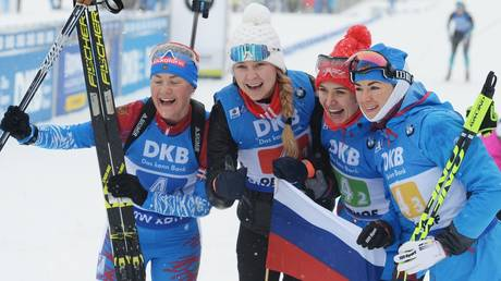 Russian biathletes BANNED from using national symbols on social media during world championships in Slovenia