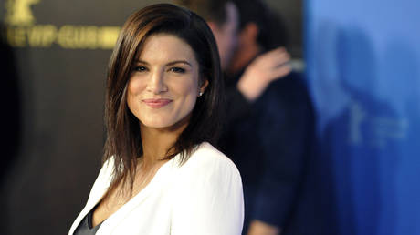 FILE PHOTO: Actress Gina Carano poses for photos during an event in Berlin, Germany.