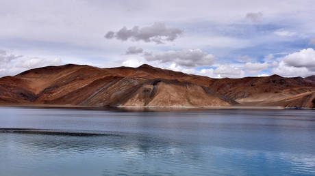 FILE PHOTO. A view of Pangong Tso lake.