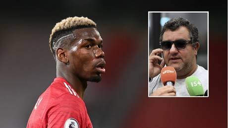 Paul Pogba and agent Mino Raiola. ©  Reuters / AFP