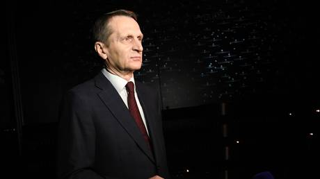 Chairman of the Russian Historical Society, Director of the Russian Foreign Intelligence Service Sergey Naryshkin.
