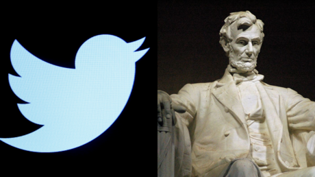 The Twitter logo, seen alongside the Lincoln Memorial in Washington, DC © Reuters / Brendan McDermid and Wikipedia
