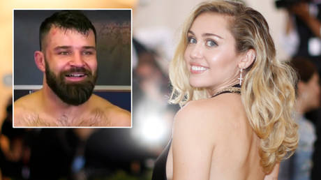 Miley Cyrus (right) has flirted with Julian Marquez on Twitter after his pre-Valentine's Day UFC 258 win © YouTube / ESPN MMA | © Eduardo Munoz / Reuters