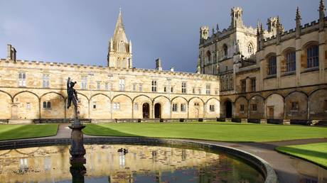 Christ Church College in Oxford, southern England