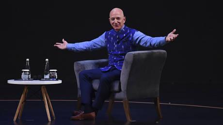 FILE PHOTO: CEO of Amazon Jeff Bezos © AFP / Sajjad Hussain
