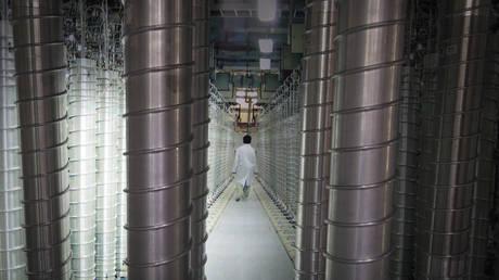 FILE PHOTO. Uranium-enriching centrifuges are pictured in Iran.