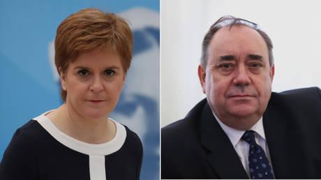 (L) Nicola Sturgeon ©️ Getty Images / Andrew Milligan; (R) Alex Salmond © Getty Images / Ian MacNicol
