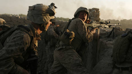 FILE PHOTO. US marines in Helmand province in 2009. ©REUTERS / Asmaa Waguih
