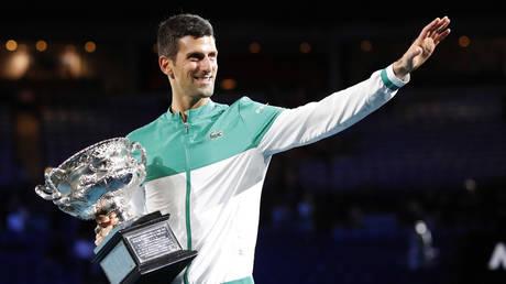 Djokovic won the Australian Open for a ninth time. © Reuters