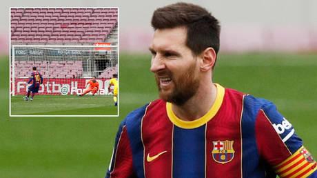 Football icon Lionel Messi broke Xavi's Liga appearance record as Barcelona drew with Cadiz © Reuters / Albert Gea