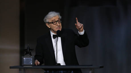 FILE PHOTO: Director Woody Allen speaks on stage at 2017 American Film Institute Life Achievement Award, Los Angeles, California, US, 08/06/2017