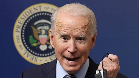 President Joe Biden is shown speaking at a White House event on Thursday.