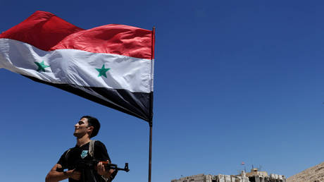 FILE PHOTO: A man poses with a rifle north of Damascus © Global Look Press/ ZUMA Press /Zhang Naijie