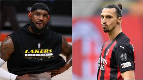 NBA star LeBron James and footballer Zlatan Ibrahimovic. © Reuters
