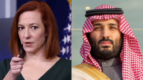 Jen Psaki and Prince Mohammed Bin Salman © Reuters / Jonathan Ernst and Bandar Algaloud