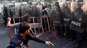 WATCH Thai police clash with opponents of military coup outside Myanmar's embassy in Bangkok