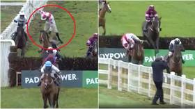 WATCH miraculous moment Irish jockey makes incredible return after being sent flying off horse