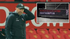 Southampton boss Hasenhuttl has BRUTALLY SARCASTIC response after team suffer ANOTHER 9-0 rout – this time vs Man Utd